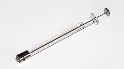 Шприц, соединитель тефлоновый, с затвором Луэра, с щелью, игла не включена, модель 1705TLL, объем 50 мкл / 1705 TLL with slot