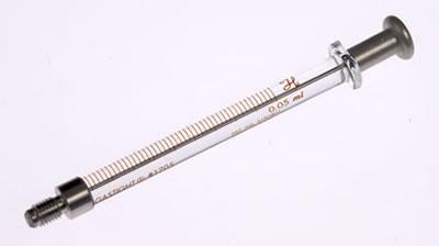 Шприцы для HPLC автосамплеров Perkin-Elmer, модель 1705 CX, объем 50 мкл (1/4-28), без стопора / 1705 CX 50µL w/Stop(1/4-28)