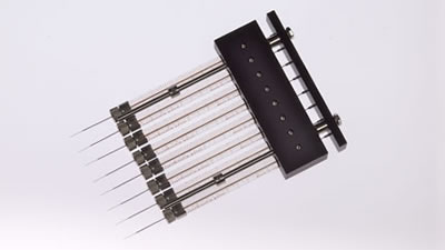 10 µL, Model 1701 RN 8CH Gel Loading SYR, Small Removable NDL, 0.2 mm, 1 in, point style 3 / 8 CHANNEL RN SYR 0.2MM