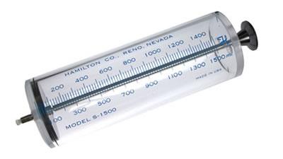 Шприц, соединитель тефлоновый, затвор Луэра, модель S1500, объем 1,5 л / S1500 1.5L Syr TLL